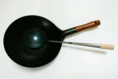 中華鍋とお玉(中サイズ)