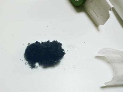 毛玉取り器で出たゴミ