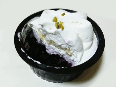 レアチーズケーキの断面