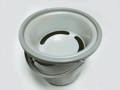 洗面器をバケツにセット