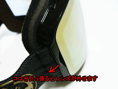 ドラゴンPXV レンズ脱着方法